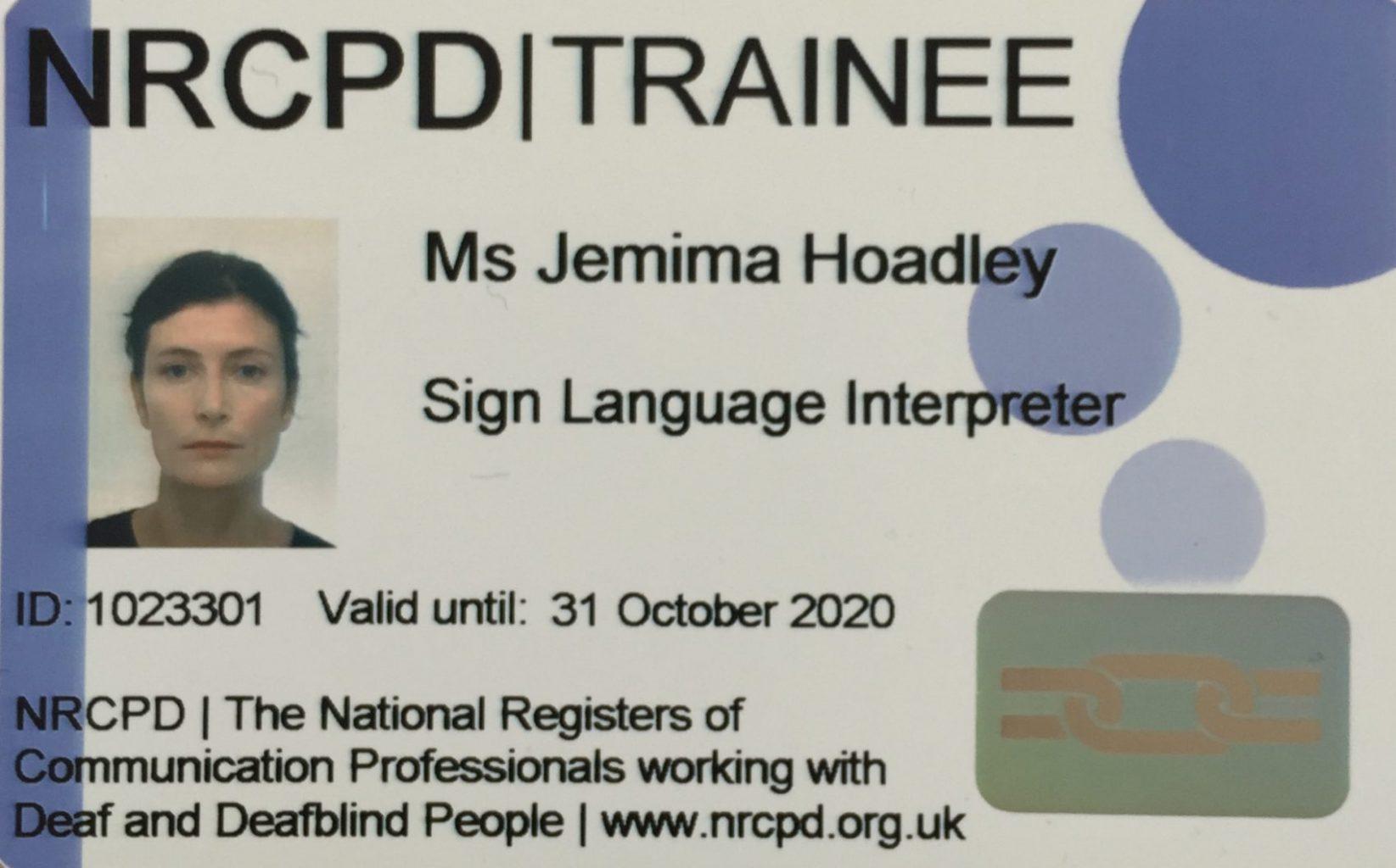 Training as a BSL Interpreter